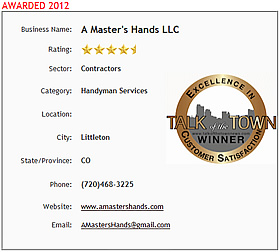 A Master's Hands wins CMUS Customer Satisfaction Award